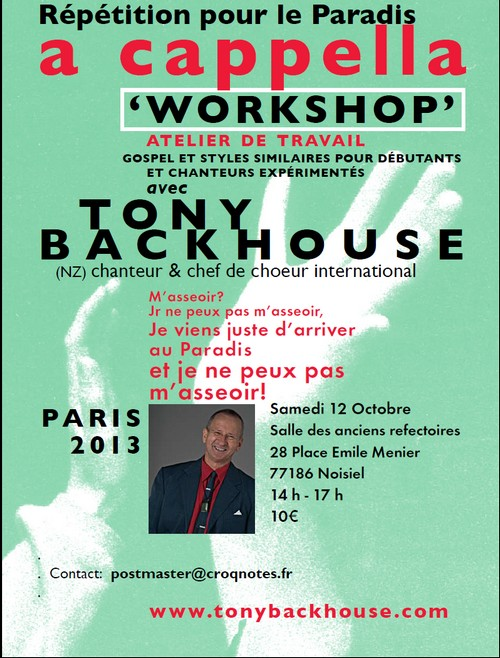 Tony Backhouse - Octobre 2013